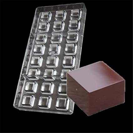 Vak 24 Cavities Square Chocolate Mould Polycarbonate Candy