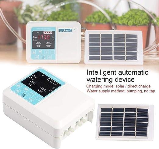 Micro kit de riego por goteo automático, de riego automático inteligente para jardín, sistema de carga