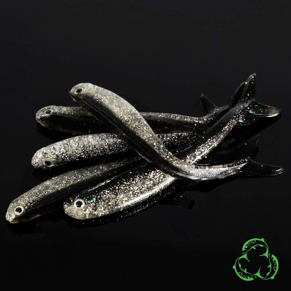 25 Pieces Rubber Bait Set Dropshot Softbait Shad Predator Bait Pike Zander Perch