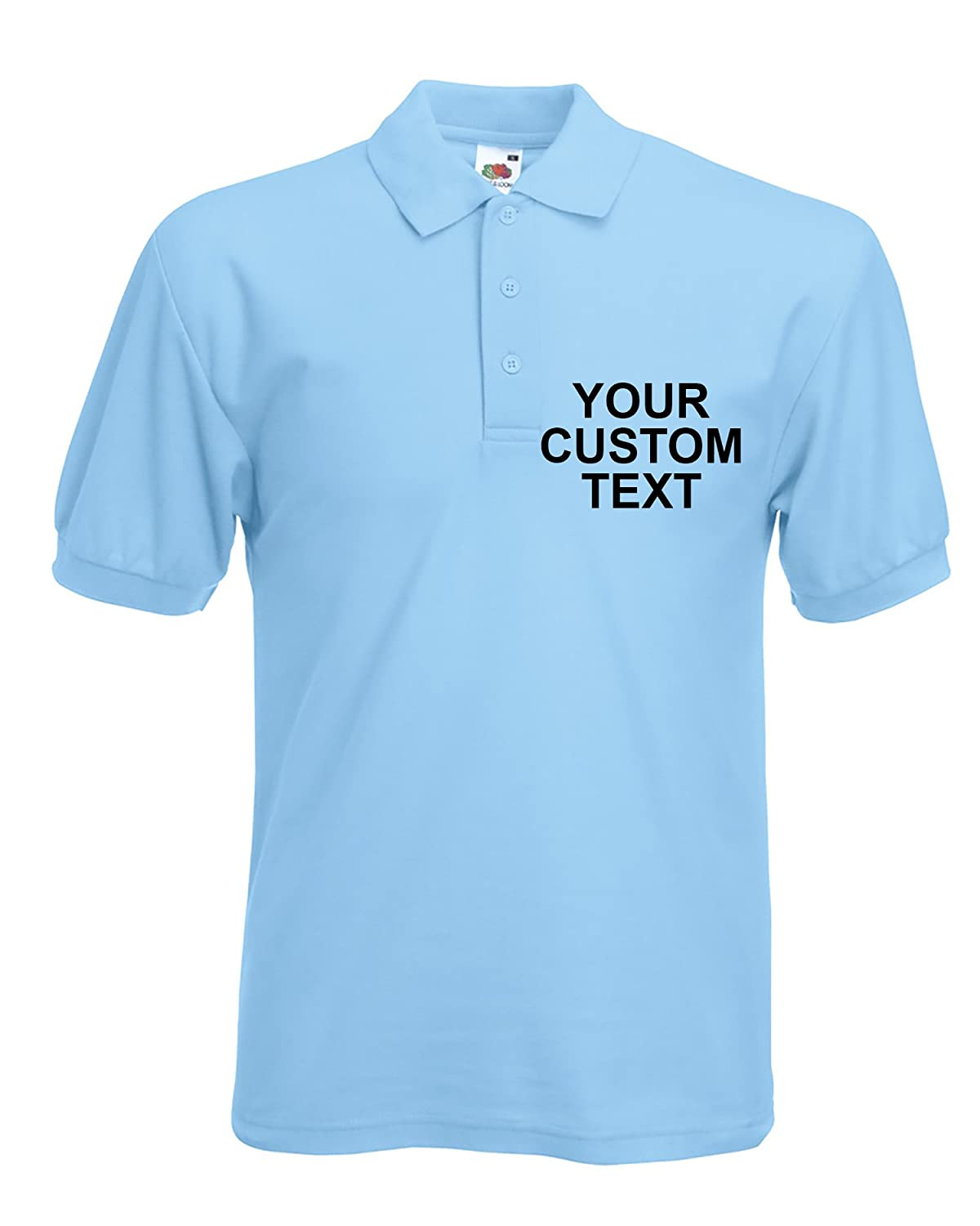 Custom Personalised Printed Polo Shirts Men's Company Polo Shirt Adults Sizes Workwear Next Day