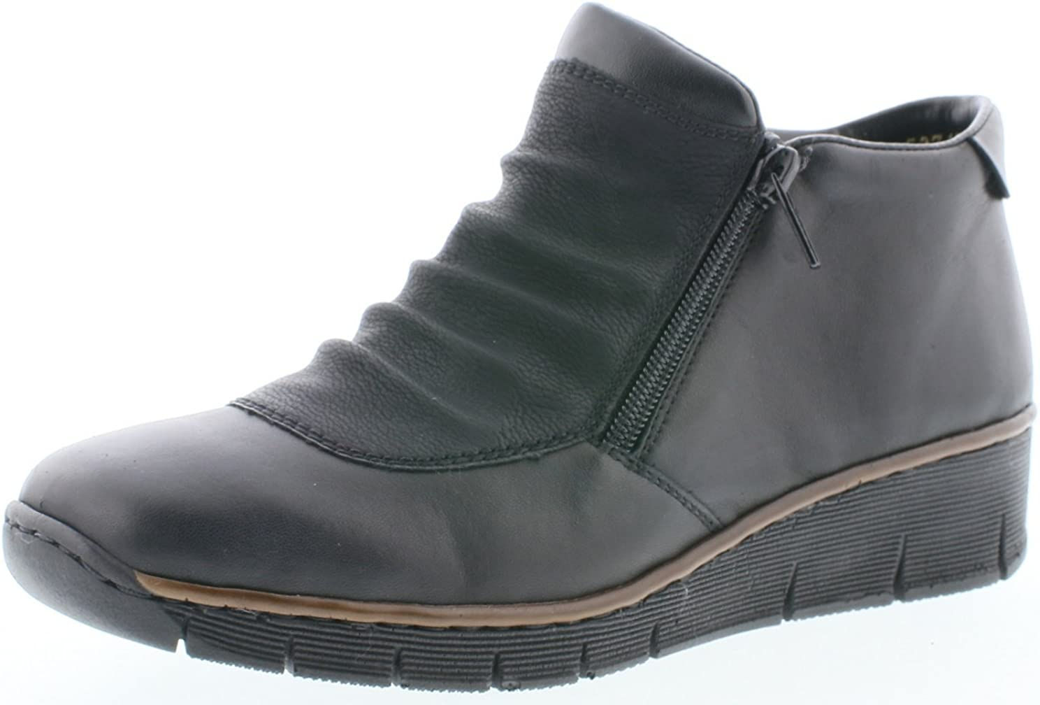 Rieker 53742 00 BOCCITWIN Black Womens Ankle Boots