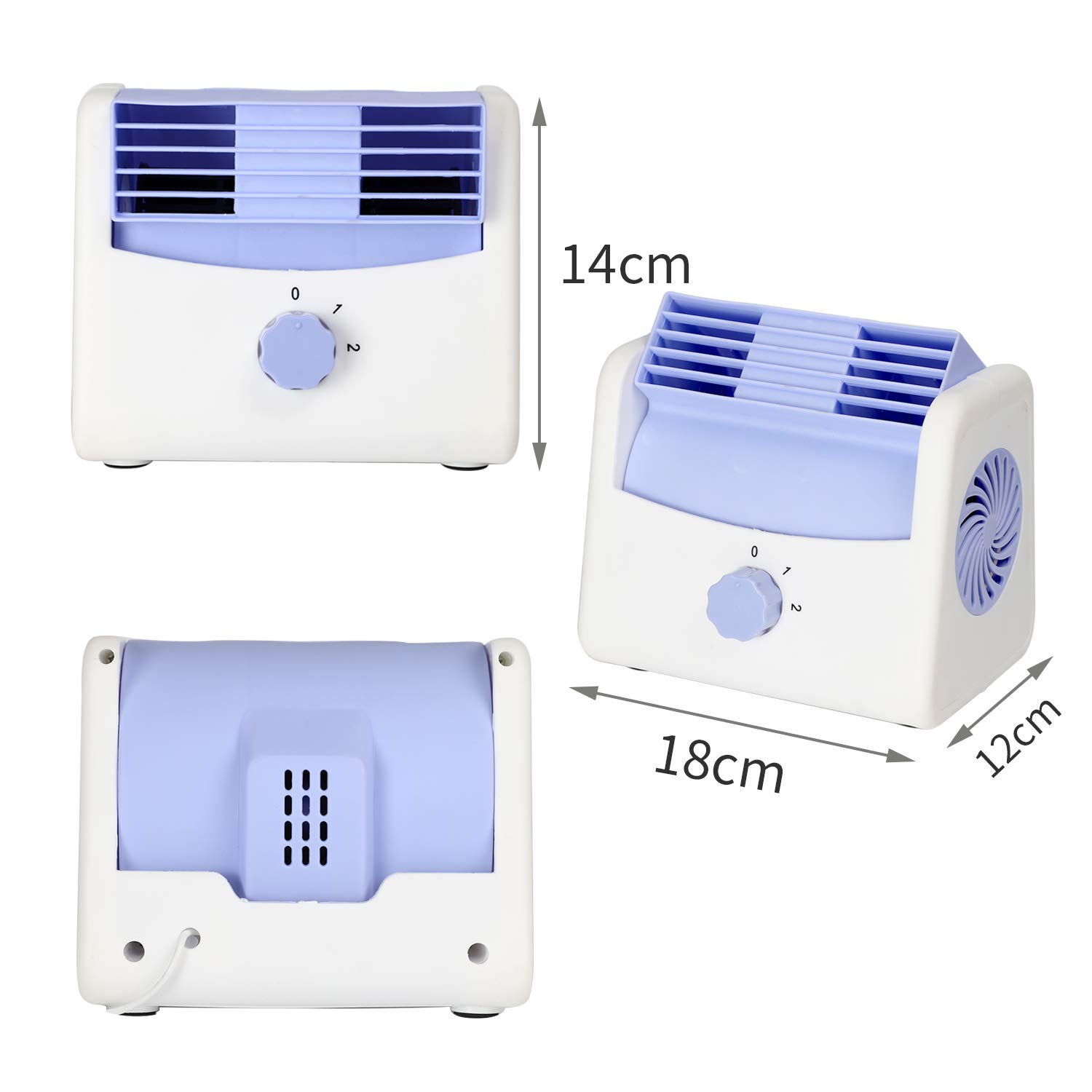 SUVs 12V DC Cooling Air Circulation Fan Trucks and Boats 2-Speed Adjustable Air Outlet Safe Leafless Fan for Cars STYLOOC Automotive Cooling Fan