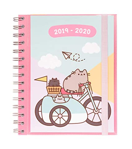 Agenda escolar 2019/2020 semana vista Pusheen Gold