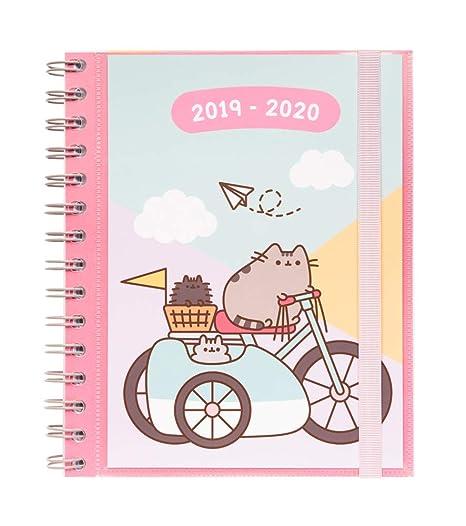Agenda escolar 2019/2020 semana vista Pusheen Gold