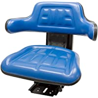Blue TRAC SEATS Brand Waffle Style Universal Tractor Suspension SEAT with TILT FITS Ford/New Holland 3900 3930 3910 5000 5100 5600 5610 5900 5910 (Same Day Shipping - Delivers in 1-4 Business Days