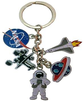 Nasa 5 Charm keychain- con rocketship, astronauta, Mars ...