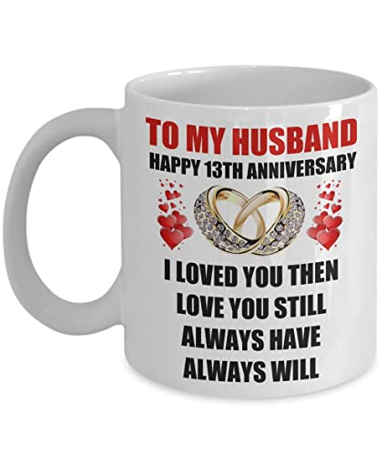 Image Unavailable. Image not available for. Color: 13 Year 13th Wedding Anniversary Gift For Him Men ...