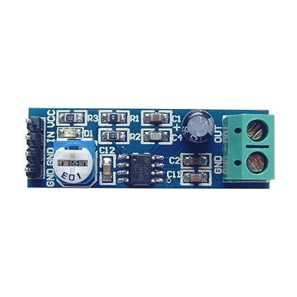 LM386 Audio Amplificador Módulo 20 x ganancia amplificación de sonido con amplio rango de voltaje 5 V a 12 V, indicador de potencia y control de volumen ...