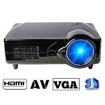 Flylinktech® D9HU Proyector LED HD portátil USB de cine en casa ...