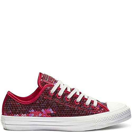 db24b83f3517 Converse CTAS OX 562448C Cherry Red Womens UK 3-8  Amazon.co.uk ...