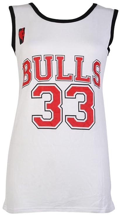 Camiseta sin mangas para mujer - Chicago Bulls 33 - Tallas 8-14 multicolor negro Talla única: Amazon.es: Ropa y accesorios