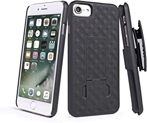 WixGear iPhone SE 2020 Pro Max Holster, Shell Holster Combo Case for Apple iPhone SE 2020 with Kick-Stand and Belt Clip