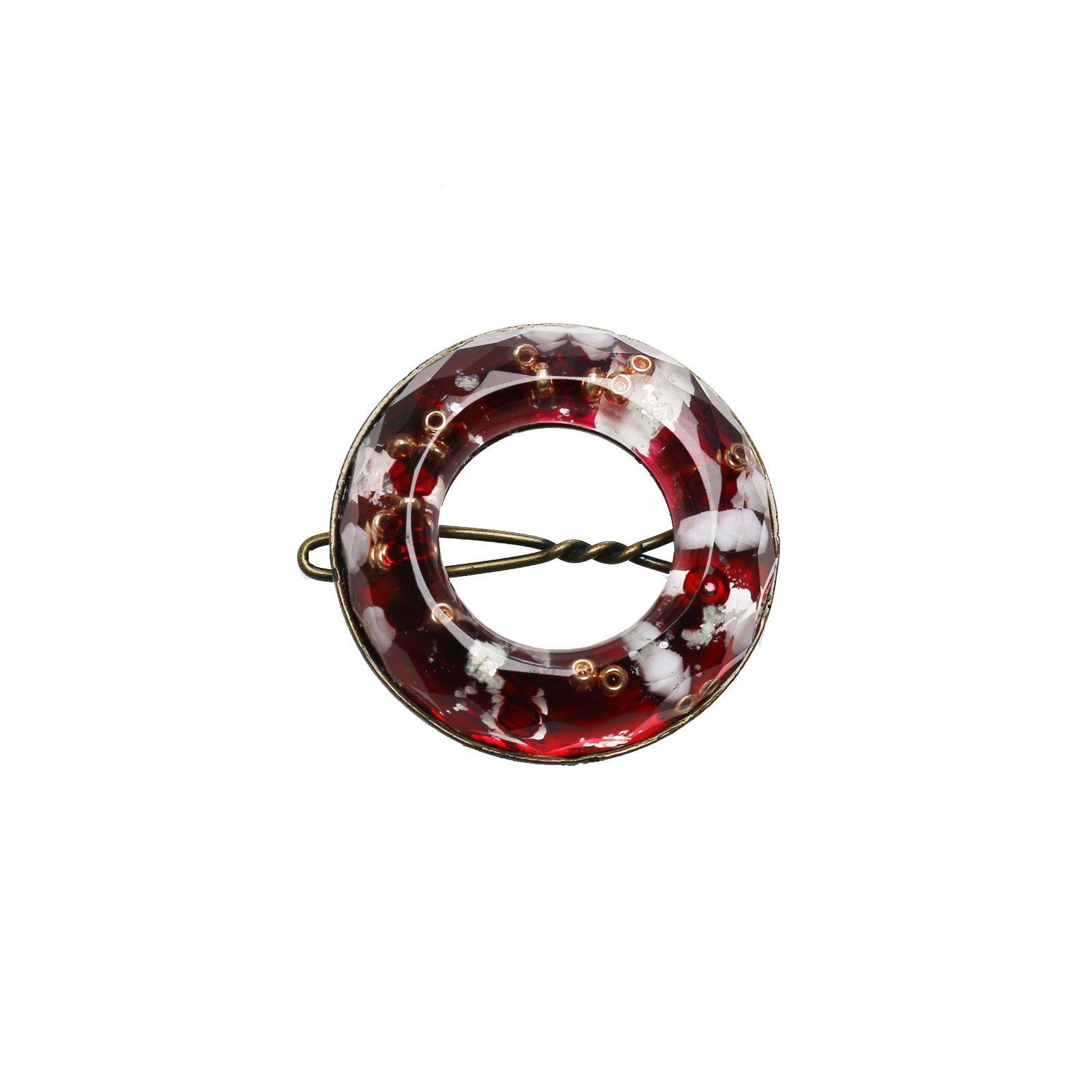Tamarusan Hair Clip Hairpin Red Beads Hair Ornament Hair Accessory
