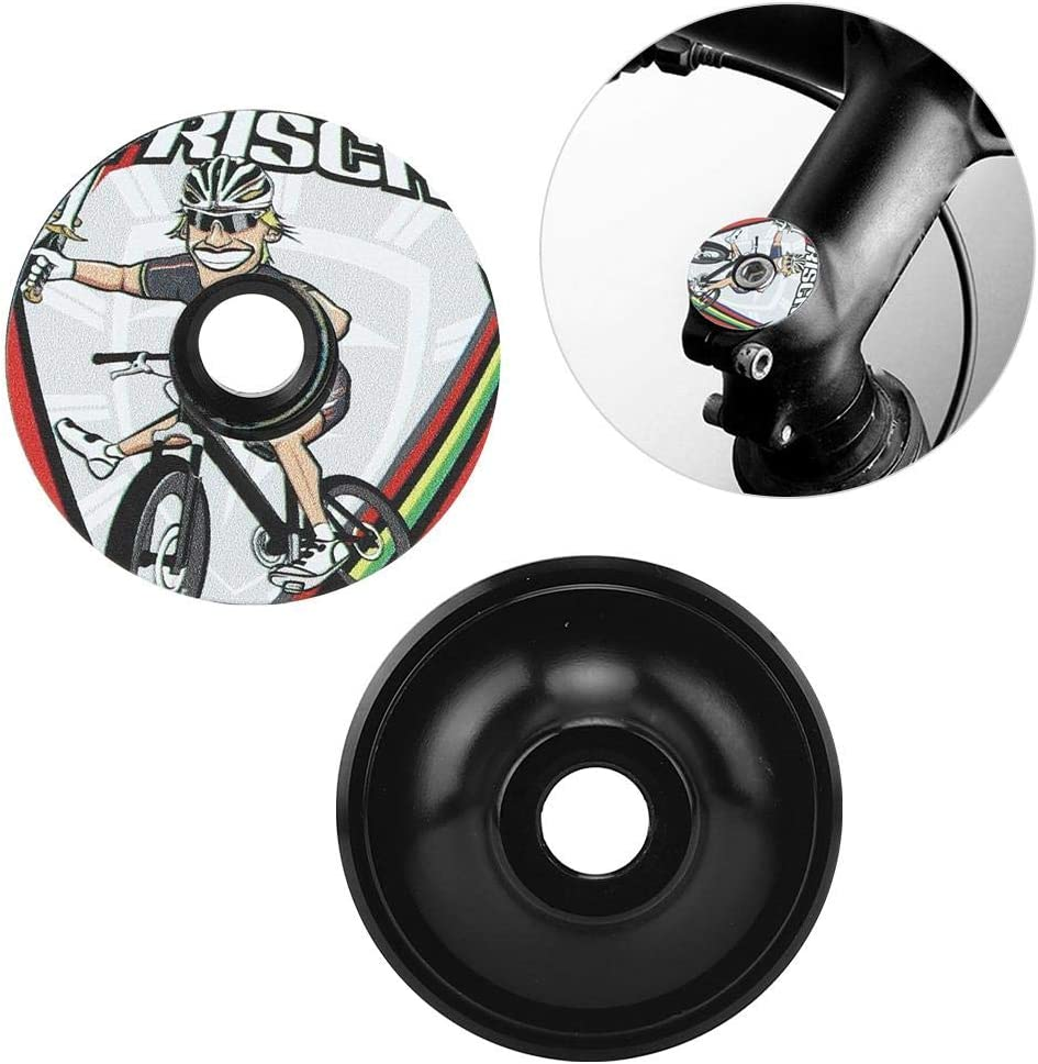Loriver Tapa del Auricular de la Bicicleta Horquilla Delantera Tapas Superiores del v/ástago Taz/ón Tapa del Tubo de direcci/ón Herramientas