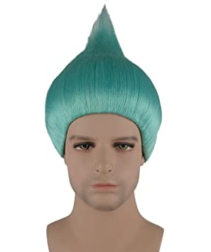 Light Blue Trolls Biggie style Wig Adults and Kids ...