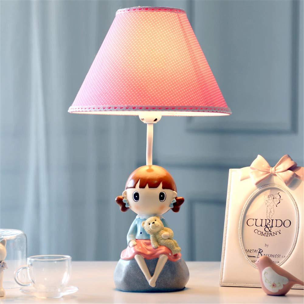 YU-K Niña pequeña lámpara de mesa LED lámpara de mesilla ...