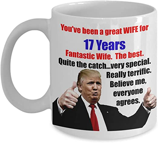30 Years Anniversary Gifts For Her Funny 30th Anniversary Wife Trump Mug