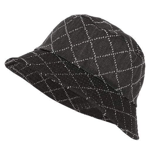 f2ef127519605 SFE Lady Sun Hat Summer Beach Hat Bucket Cap Fisherman Flat Cap Black