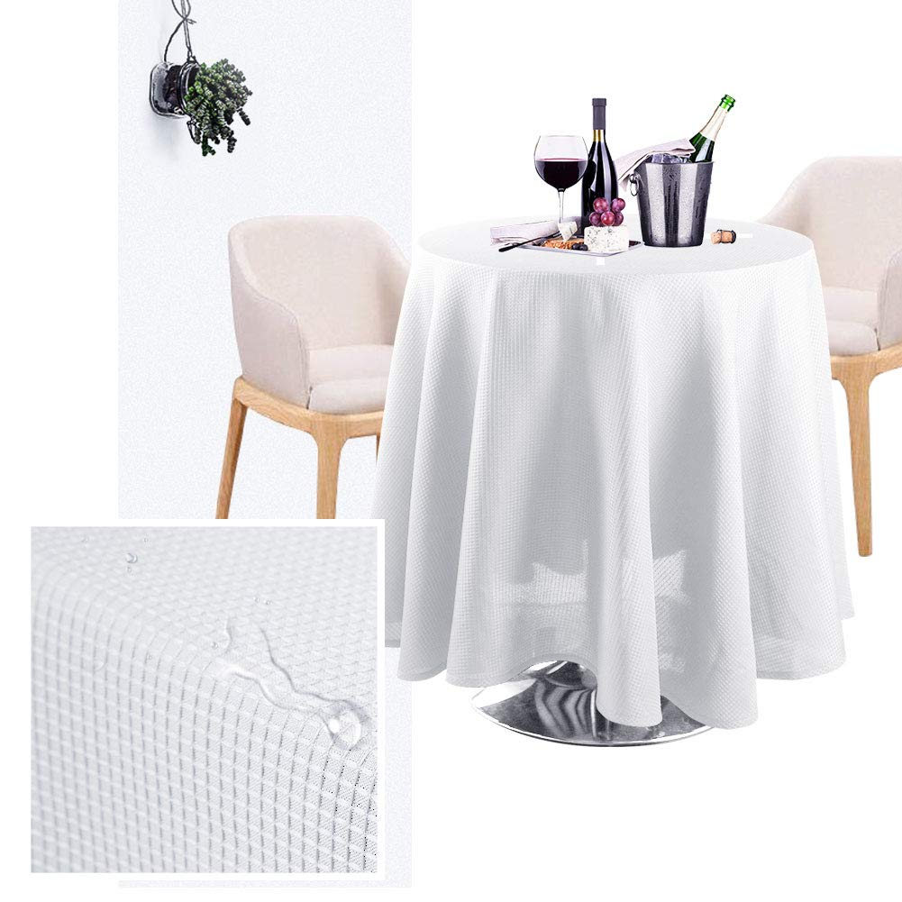 White Birthday Parties Banquet Wedding 60 x 120 inch for Buffet Table IdealHouse Waffle Weave Fabric Table Cover Rectangle Tablecloth Stain Resistant//Spill-proof//Waterproof