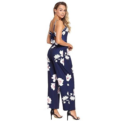 eb856b167d01 Mercantil Express New Women Floral Print Wide Leg Jumpsuits