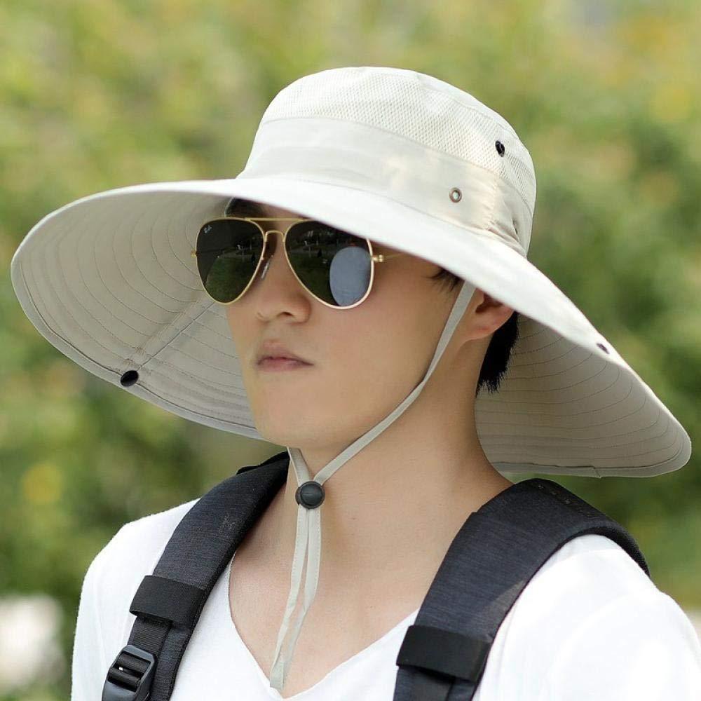 GYBLZRDD Chapeau de Soleil Respirant du Chapeau de p/êcheur,Chapeau de Pare-Soleil UV,Grand Chapeau de Plage Pliable,Chapeau de p/êche en Plein air