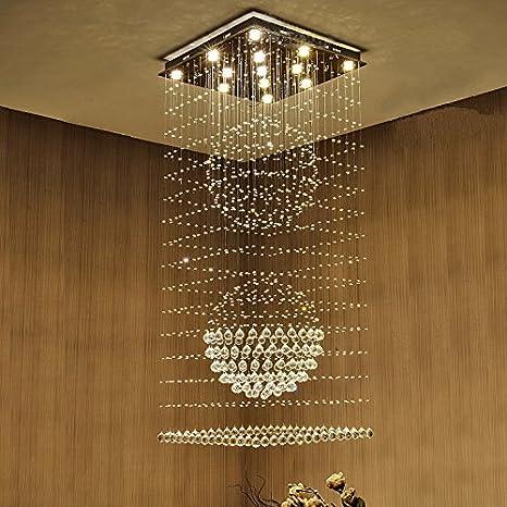 Saint mossi modern k9 crystal raindrop chandelier lighting flush saint mossi modern k9 crystal raindrop chandelier lighting flush mount led ceiling light fixture pendant lamp aloadofball Gallery