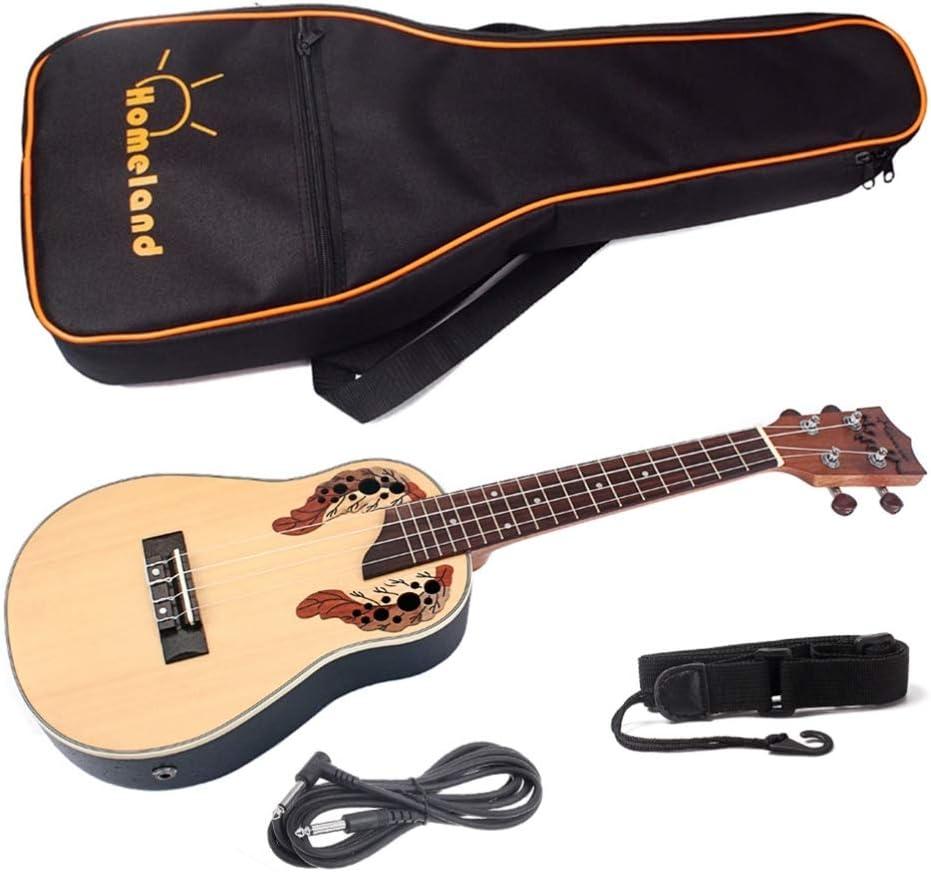 Generic 23 Pulgadas Profesional Ukelele Instrumento 4 Cuerdas de Guitarra Hawaiana con Bolsa de Concierto para Principiantes Ukelele