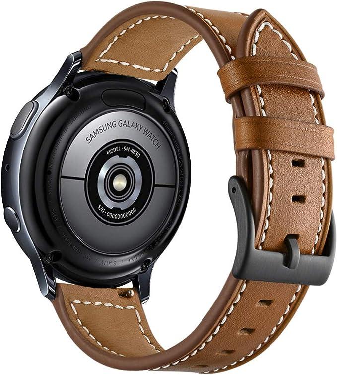 Para Correa Gear S2 Sport 20mm Cuero, Aottom Correa Samsung Galaxy ...