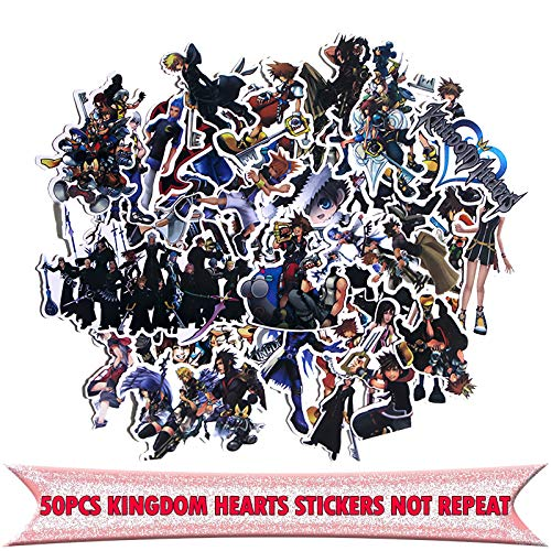 50 Pcs Kingdom Hearts Waterproof Stickers Kids Toy Sticker for DIY Luggage Laptop Wall Car Phone Decoration