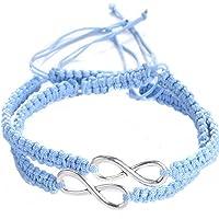 Shlonger 2 pulseras trenzadas para mujer y hombre, hechas a mano con el símbolo del infinito para los amantes de la…