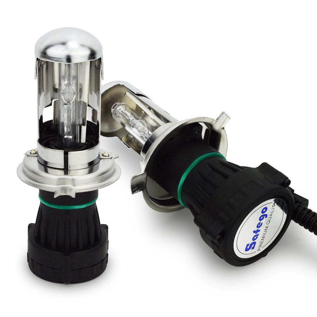 Safego Bixenon H4 Hi Lo HID Lampara Luz de Headlight Bombillas (6000K Blanco) product