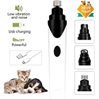 talifiy Pet Dog Nail Grinder for Dogs Cats, Electric USB Rechargeable Super Low Noisy Dog Nail Grinder Trimer Grooming with 3 Sizes Grinding Ports, Lifetime Gurantee