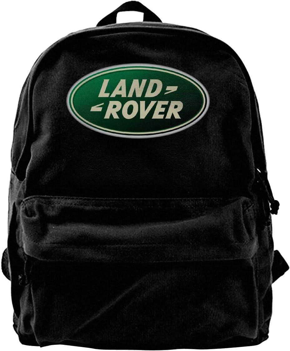 Mochila de Lona Land Rover Car Logo Mochila Gimnasio Senderismo Laptop Bolsa de Hombro Mochila para Hombres Mujeres