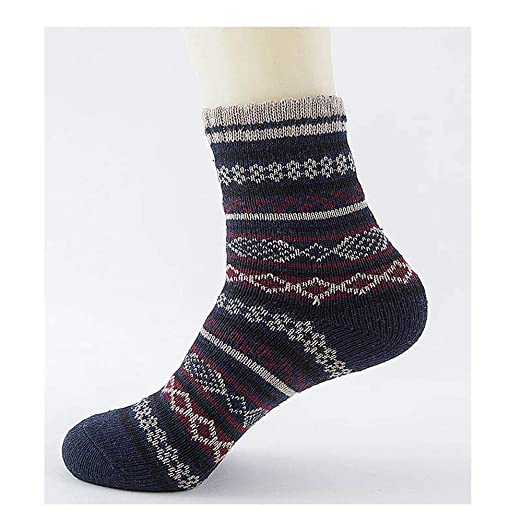 Winter Thick Warm Stripe Wool Casual Calcetines Hombre Sock Business Male Socks