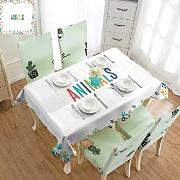 Amazon.com: SLLART - Mantel para fiestas infantiles, diseño ...