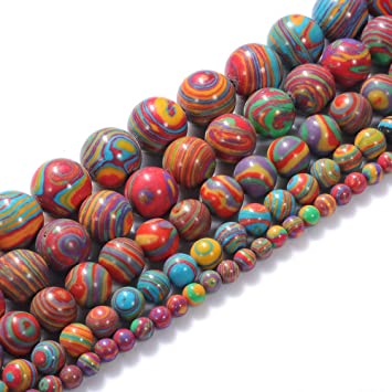 8mm Natural Green Malachite Round Gemstone Loose Beads 15/'/' AAA DIY
