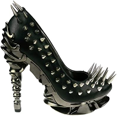 c707711ae8d9 HADES Pump Platform Shoes Womens Heels Steampunk Goth Spikes ZETTA Black  PU-6