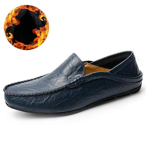 Mens Zapatos Casuales Mantener-Caliente Zapatos De ConduccióN Mocasines De Invierno Zapatos De Los Hombres Vestido Zapatos De Fiesta Antideslizante: ...