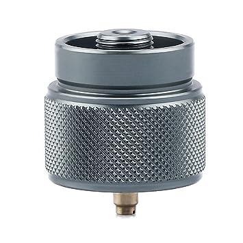 BIKECO - Adaptador para Estufa de Acampada, 1 L, Adaptador de Tanque de Gas pequeño Propane EN417 Lindal Válvula Salida para Exterior Camping Senderismo ...