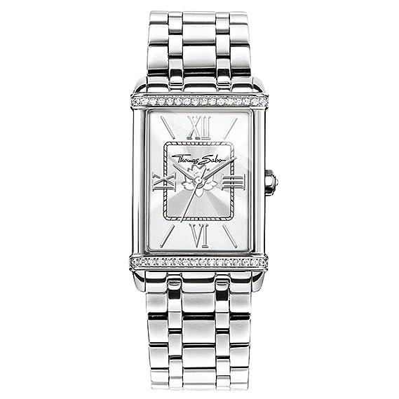 Thomas Sabo Relojes, Las Mujeres Reloj de Pulsera de Las Mujeres Siglo, Acero Inoxidable: Amazon.es: Relojes