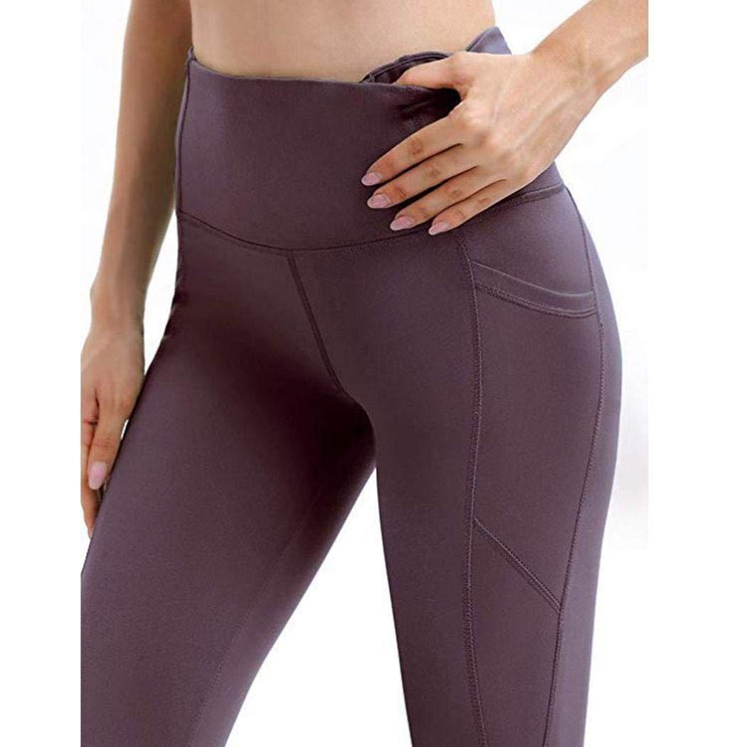 Dieron Leggings di Yoga di Forma Fisica della Tasca Solida Alta Vita Elastica delle Donne Tute da Ginnastica