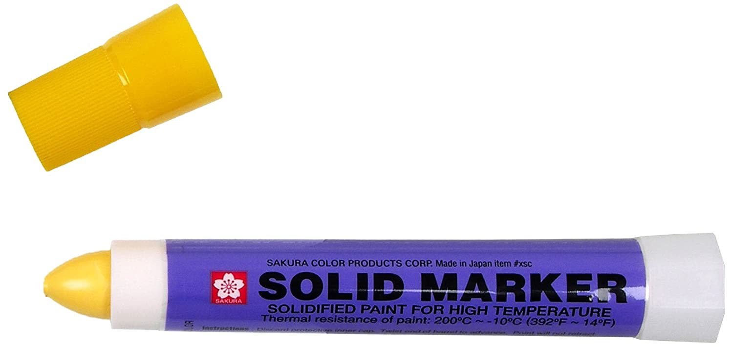 Sakura Solidified Paint Solid Marker, Yellow (Box of 12) Inc. XSC-3