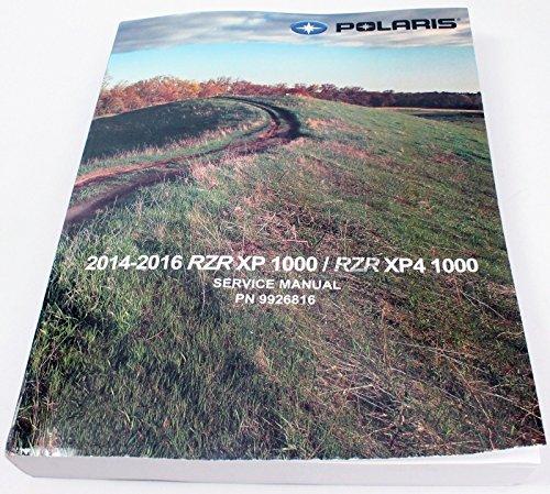 Polaris 2014-2016 Rzr Xp Xp4 4 1000 Service Shop Repair Manual 9926816 New Oem - Oem Shop Repair Manual
