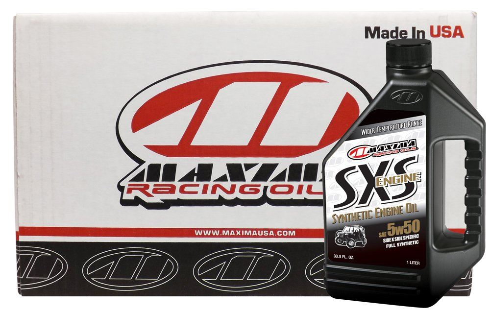 Maxima Racing Oils CS30-18901-12PK-12PK 5W-50 SXS Synthetic Side by Side Engine Oil - 12 L, (Pack of 12) by Maxima
