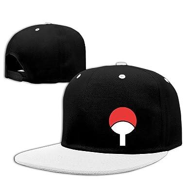 Naruto Uchiha Symbol Logo Baseball Snapback Hat Red Amazon