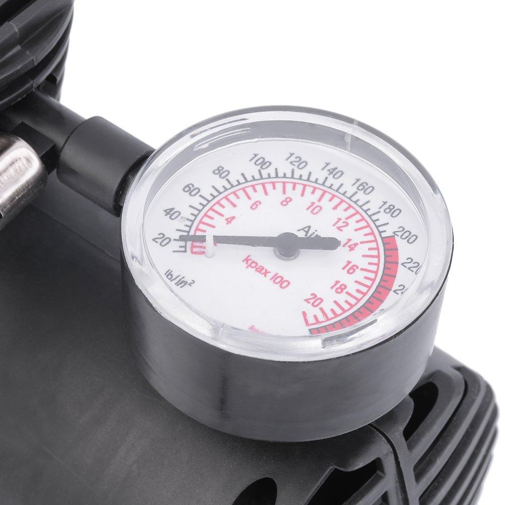 Binghotfire Air Compressor 12V Tire Inflator Toys Sports Car Auto Electric Pump Mini Black