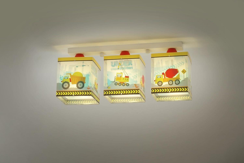 Giallo//Blu//Rosso DALBER 63613 Costruzione 3 luce lampada del soffitto