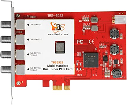 Amazon Com Tbs6522 Dual Tuner Pcie Card Dvb S2x S2 S T2 T C2 C Isdb T Multi Standard Digital Tv Card Live Tv Window Linux Htpc Iptv Server Computers Accessories