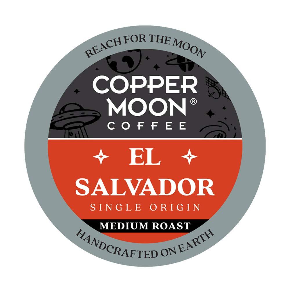 Copper Moon El Salvador Origin, Medium Roast Coffee Pods Compatible with Keurig K-Cup Brewers, 12 Count. (292274)