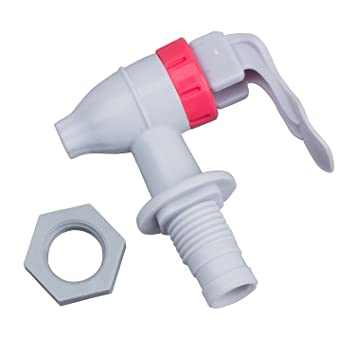 SODIAL(R) Grifo de Plastico para Dispensador de Agua Tipo de Empuje - Blanco Rojo: Amazon.es: Hogar